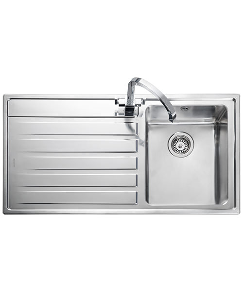 Additional image of Rangemaster Rockford 985 x 508mm Stainless Steel 1.0B Inset Kitchen Sink