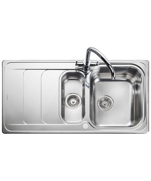 Rangemaster Houston 985 x 508mm Stainless Steel 1.5B Inset Kitchen Sink