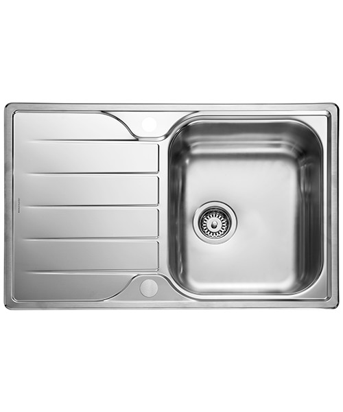 Rangemaster Michigan Compact 800 x 508mm Stainless Steel 1.0B Inset Sink