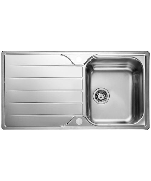 Rangemaster Michigan 950 x 508mm Kitchen Stainless Steel 1.0B Inset Sink