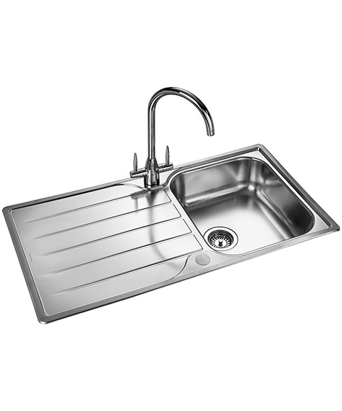Additional image of Rangemaster Michigan 950 x 508mm Kitchen Stainless Steel 1.0B Inset Sink