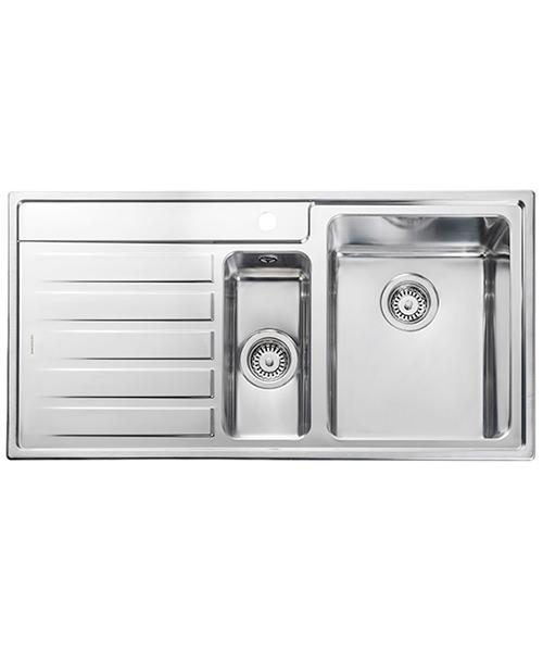 Rangemaster Rockford Stainless Steel 1.5B Inset Kitchen Sink 985 x 508mm