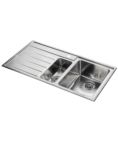 Alternate image of Rangemaster Rockford Stainless Steel 1.5B Inset Kitchen Sink 985 x 508mm
