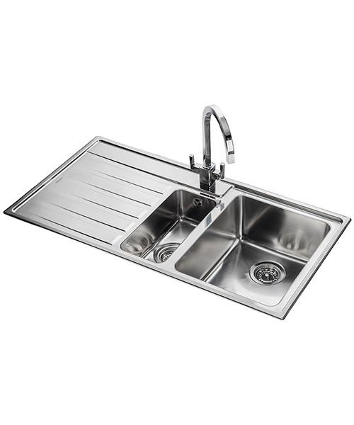Additional image of Rangemaster Rockford Stainless Steel 1.5B Inset Kitchen Sink 985 x 508mm