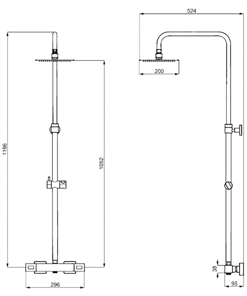 Technical drawing 49490 / SQ600WC