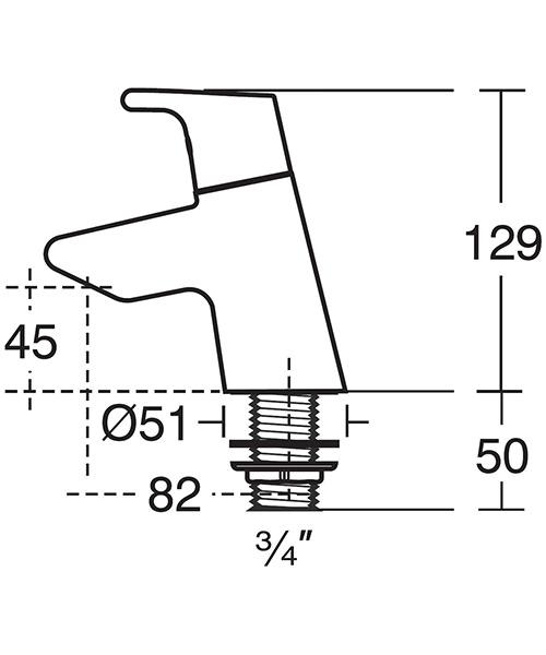 Technical drawing 11550 / B8076AA