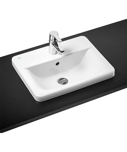 Ideal Standard Concept Cube 1 Tap Hole Countertop Basin