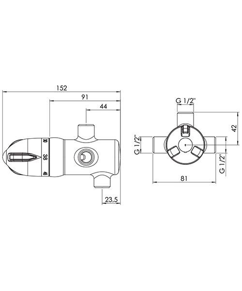 Technical drawing 9358 / SH949C