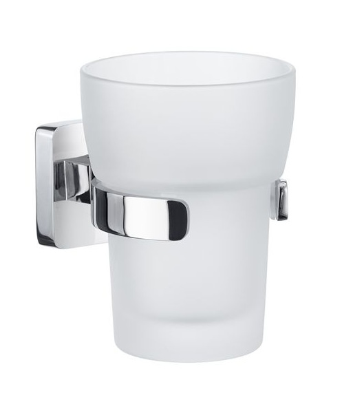 Smedbo Ice Holder With Frosted Glass Tumbler - Polished Chrome