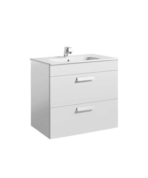 Roca Debba Unik 805 x 460mm 2 Drawers Base Unit And Basin