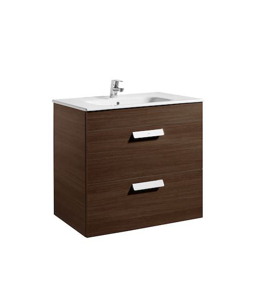 Additional image of Roca Debba Unik 805 x 460mm 2 Drawers Base Unit And Basin