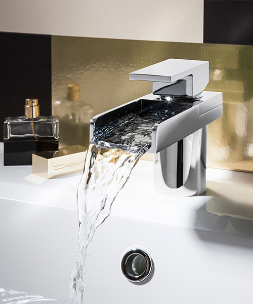 Alternate image of Crosswater Water Square Monobloc Basin Mixer Tap Chrome
