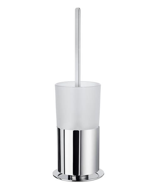Smedbo Outline Toilet Brush Free Standing With Frosted Glass Container