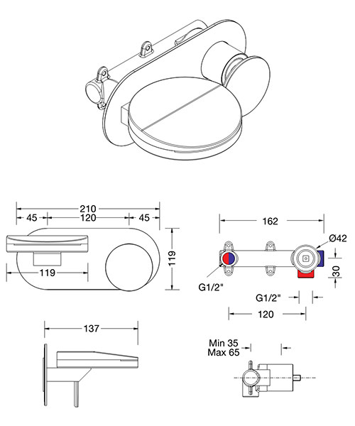 Technical drawing 28456 / WO121WNC