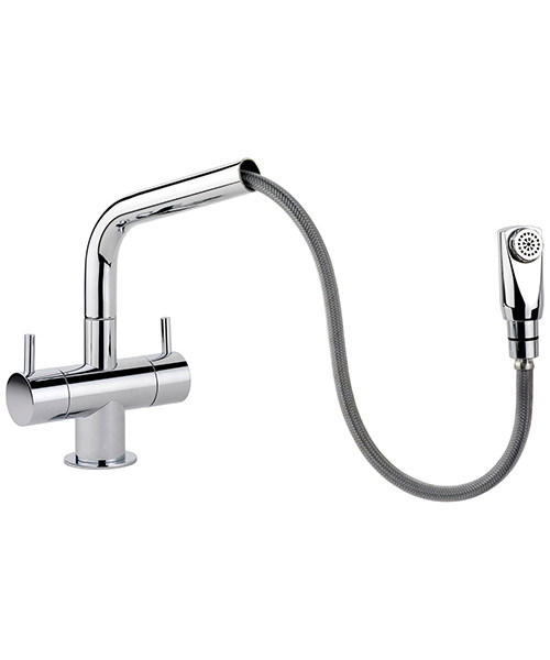 Rangemaster Aquapro Dual Lever Pull Out Kitchen Sink Mixer Tap