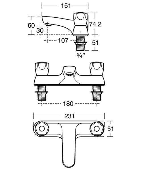 Technical drawing 37874 / B9870AA