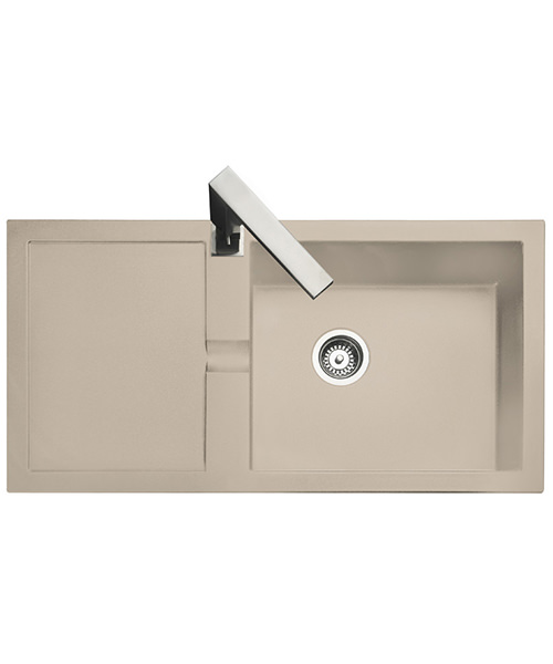 Additional image of Rangemaster Cubix 985 x 508mm Neo-Rock 1.0B Inset Sink