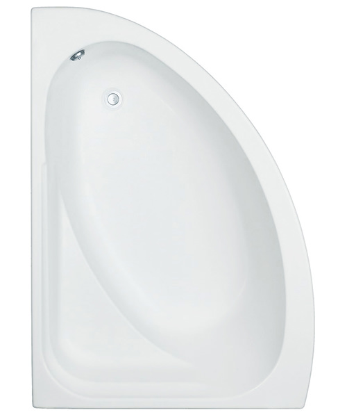 Trojan Orlando White Offset Corner Bath 1500 x 1040mm