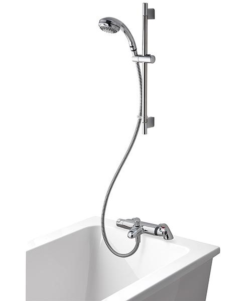 Aqualisa Midas 100 Bath Shower Mixer With 90mm Harmony Head And Kit