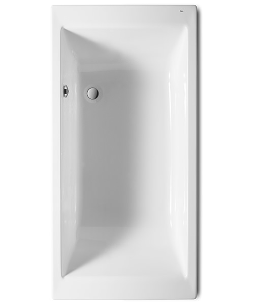 Roca Vythos 1700 x 800mm Double-Ended Acrylic Bath With No Tapholes
