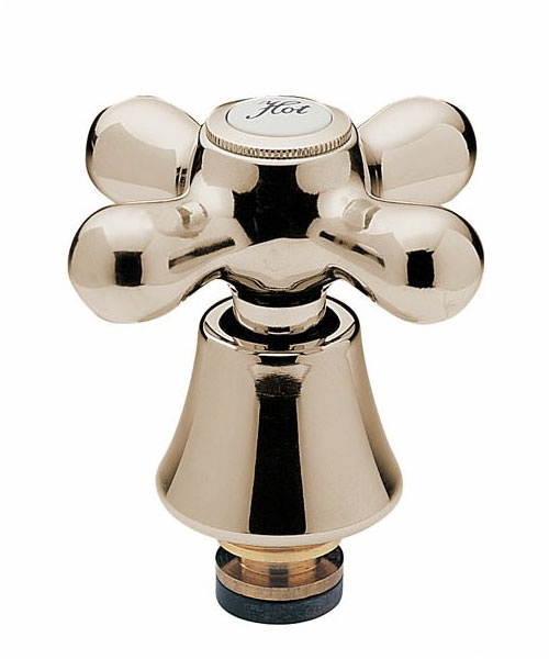 Tre Mercati Victoria 1-2 Inch Tap Head With Conversion Kit Antique Gold