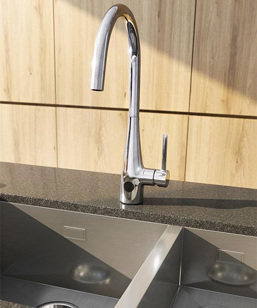 Crosswater Cucina Cook Side Lever Sensor Kitchen Sink Mixer Tap