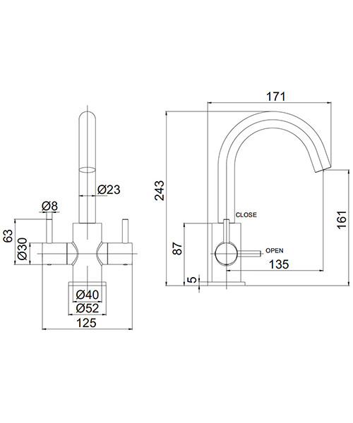 Technical drawing 36342 / PRO116DNV