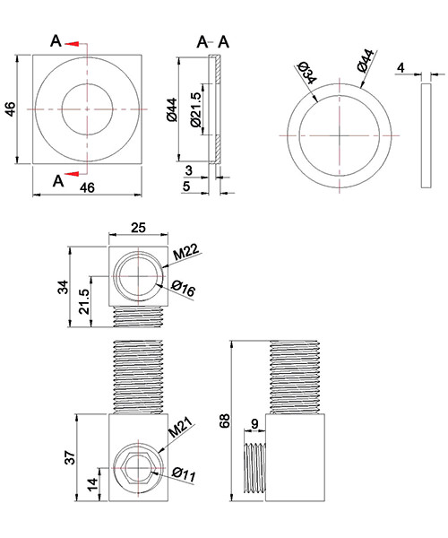 Technical drawing 9351 / WL952C