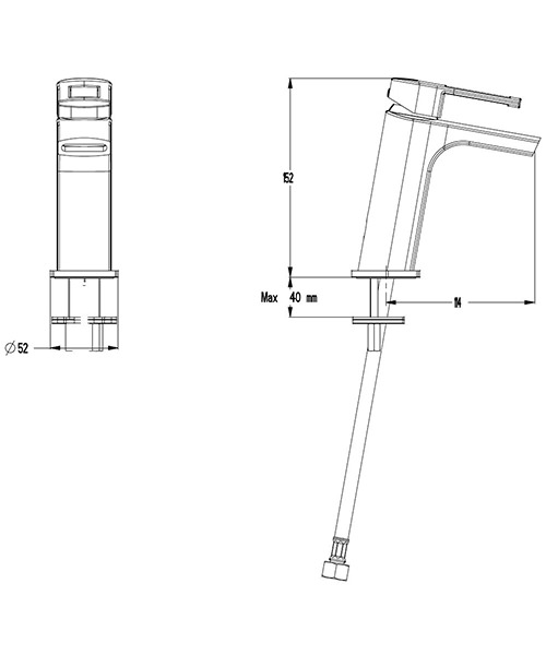 Technical drawing 7186 / SP114DNC