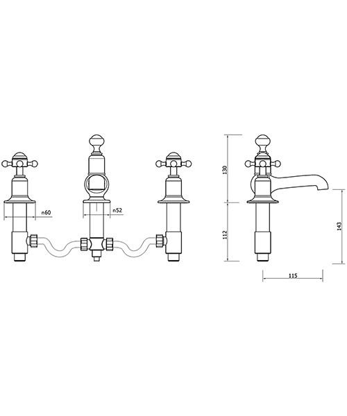 Technical drawing 33236 / BL130DPC