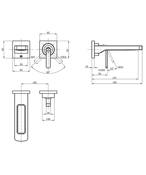 Technical drawing 36295 / KH01_120WNC