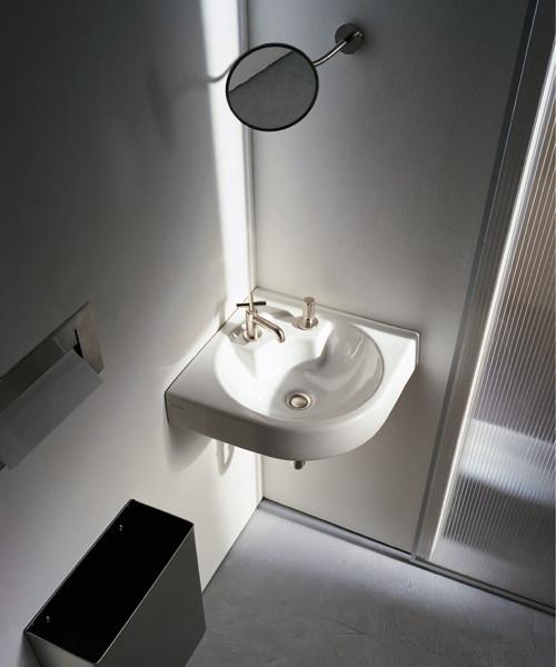 Additional image of Duravit Architec 635mm Coner Washbasin
