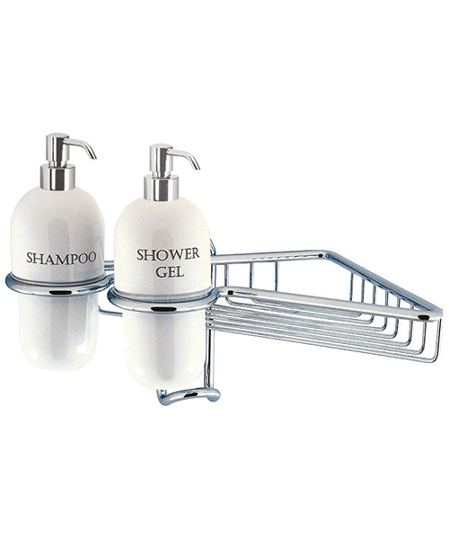 Crosswater Chrome Single Wire Basket With Ceramic Dispensers