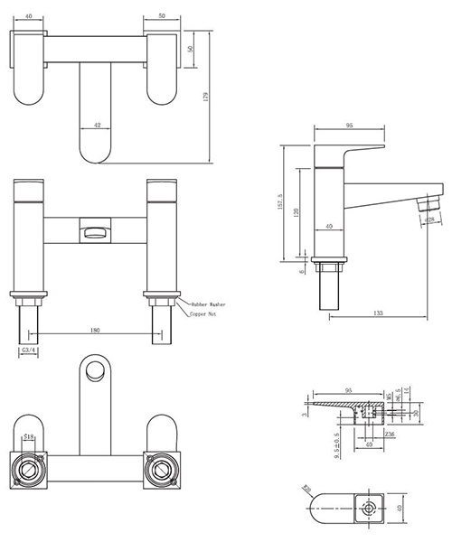 Technical drawing 13014 / MO322DC