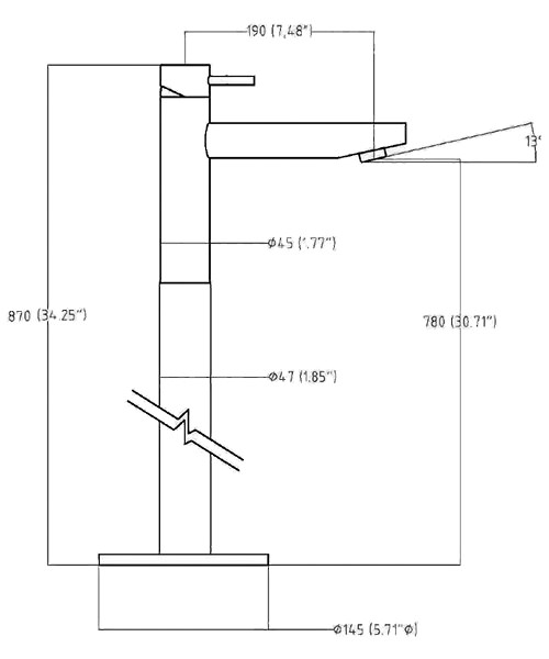 Technical drawing 13311 / KL315FC