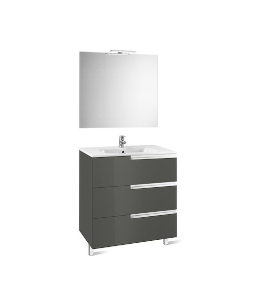 Additional image of Roca Victoria-N 1000 x 460 x 740mm Vanity Unit Pack With Mirror And Light