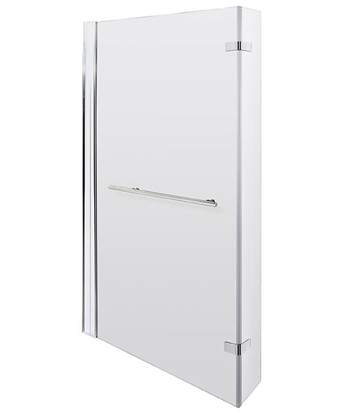 Lauren Quattro 805 x 1400mm Hinged Screen With Rail For Square Bath