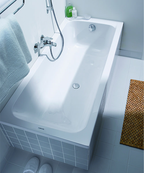 Duravit D-Code Built-In Bathtub Without Feet - Central Outlet