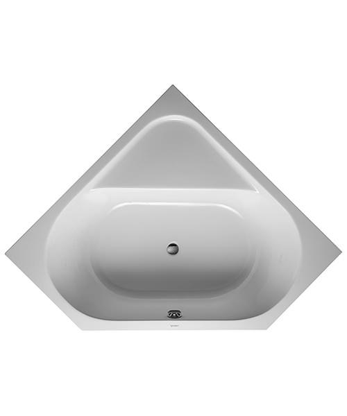 Duravit D-Code 1400 x 1400mm Built-In Corner Bathtub With Support Feet