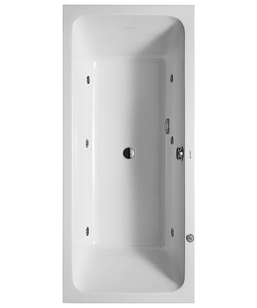 Duravit D-Code 1800 x 800mm Built-In Whirltub With Central Outlet