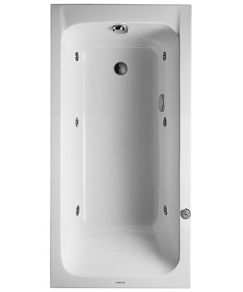 Duravit D-Code Built-In Whirltub With Outlet In Foot Area