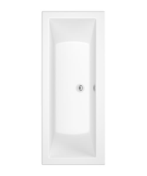 Roca The Gap 1700 x 700 x 515mm Double Ended Acrylic Bath Without Taphole