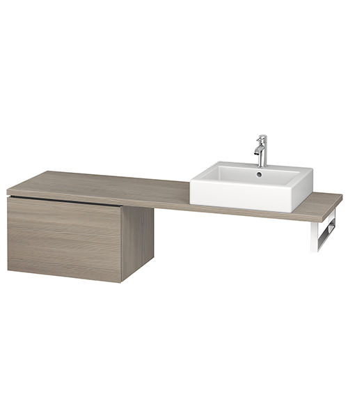 Additional image of Duravit L-Cube 620mm 1 Drawer Floor Standing Vanity Unit For Console