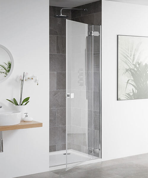 Lakes Island Barbados Frameless Hinge Shower Door 800 x 2000mm