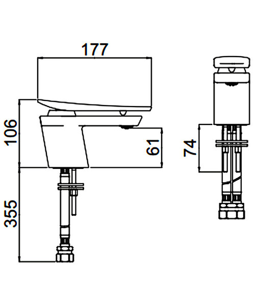 Technical drawing 54717 / MCLR 1HBF CR