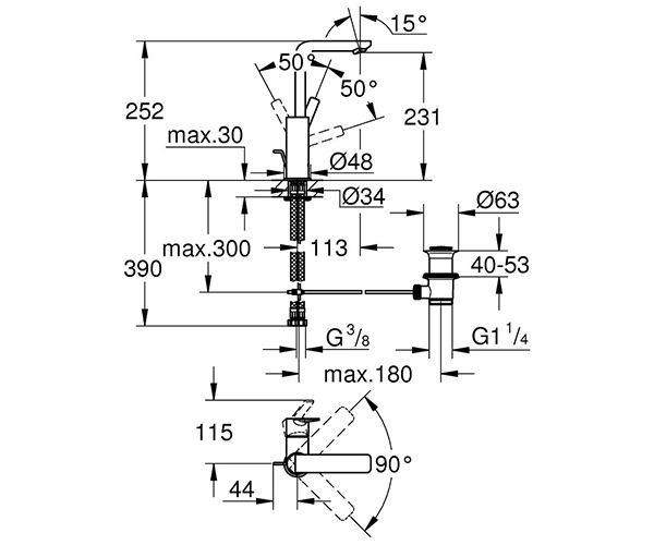 Technical drawing 54453 / 23296001