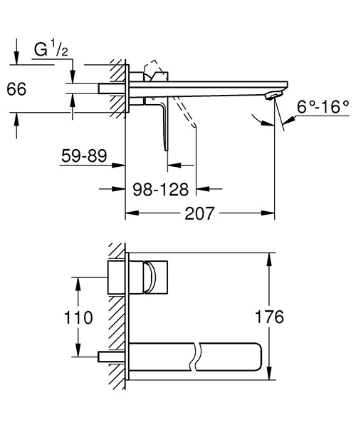 Technical drawing 54455 / 23444001