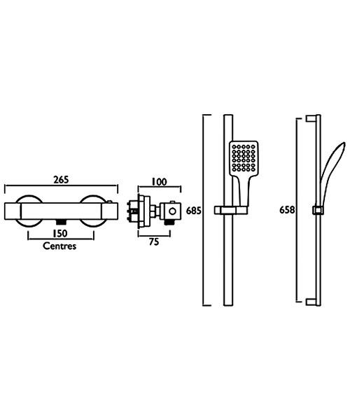 Technical drawing 54774 / VR SHXMTFF C