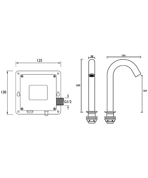 Technical drawing 54750 / IRBS5-CP
