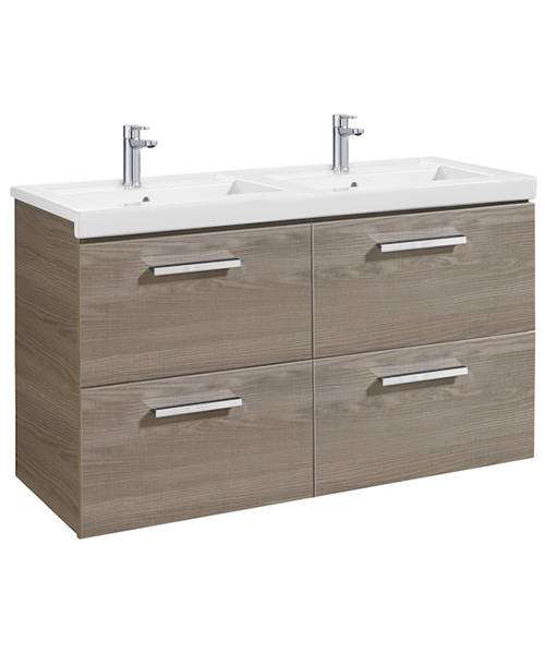 Roca Prisma Unik 4-Drawer Vanity Unit And Basin - W 1200 x H 694mm